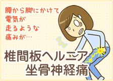 福岡市で椎間板ヘルニア・坐骨神経痛のお悩みがある方